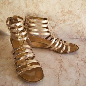 Report signature gladiator wedges sandals 7.5
